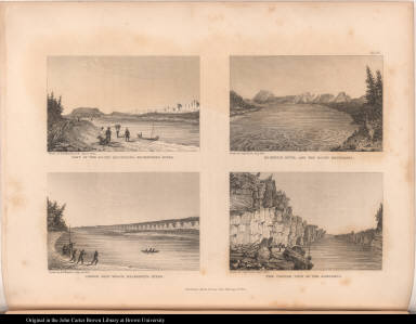Part of the Rocky Mountains, Mackenzie's River.; Mackenzie River, and the Rocky Mountains.; Cannon Shot Reach, Mackenzie's River.; The Centre View of the Ramparts.