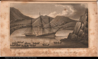 Brig Jane, and Cutter Beaufoy, in Indian Cove, Terra del Fuego.