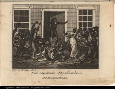 Bogosluzhenie Afrikanskikh Metodistov [Black Methodists Holding a Prayer Meeting]