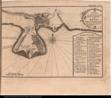 Plan van de Haven, Stadts Citadel, en Sterktens van Angra ...