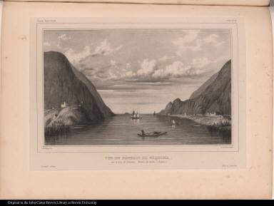 Vue du Détroit de Tinquina. sur le Lac de Titicaca. Plateau des Andes. (Bolivia.)