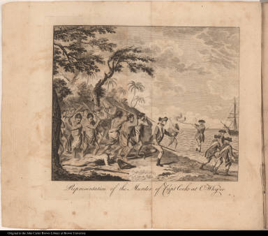 Representation of the Murder of Capt Cook at O-Why-ee