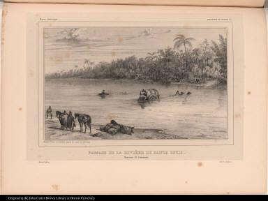 Passage de la Rivière de Santa Lucia. Province de Corrientes