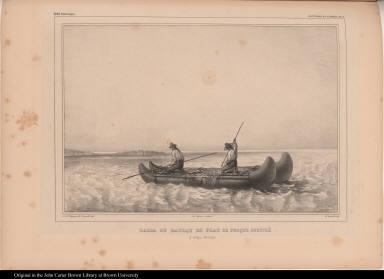 Balsa ou bateau de peau de phoque soufflé à Cobija. (Bolivia)