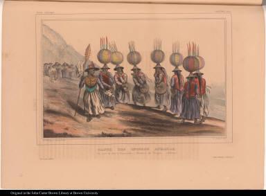 Danse des Indiens Aymaras. Un Jour de Fête à Yanacache, Province de Yungas. (Bolivia.)
