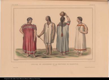 Indiens et Indiennes de la Province de Chiquitos. (Bolivia.)