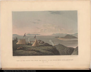 View of the Arctic Sea, from the Mouth of the Copper Mine River, Midnight. July 20. 1821.