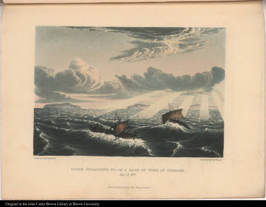 Canoe Broaching To, in a Gale of Wind at Sunrise. Aug. 23. 1821.