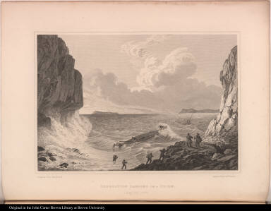 Expedition Landing in a Storm. Augt. 23. 1821.