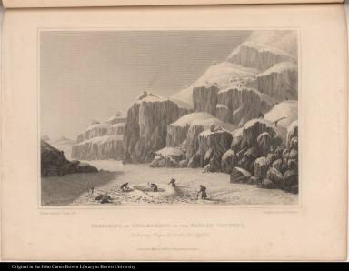 Preparing an Encampment on the Barren Grounds, Gathering Tripe de Roche &c. Septr. 16.