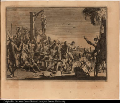 [Spaniards torture native Americans]