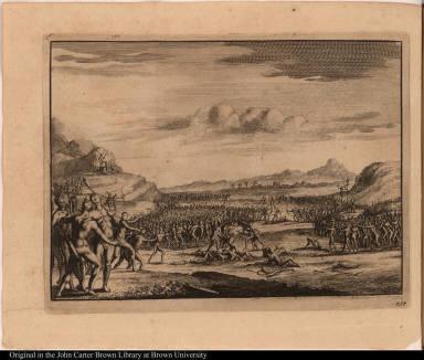 [Scene of native American warfare]