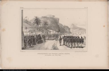 Embarquement des Troupes a Prahia Grande, pour l'Expédition contre Monte-Video.