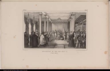 Acclamation du Roi Dom Jean VI. à Rio de Janeiro.