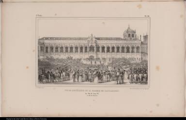 Vue de L'Extérieur de la Galerie de L'Acclamation. du Roi D. Jean VI. (à Rio de Janeiro).