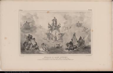 Décoration du Ballet Historique Donné au Théatre de la Cour, à Rio de Janeiro, le 13 Mai 1818, à l'occasion de l'acclamation du Roi D. Jean VI et du mariage du Prince Royal D. Pedro, son fils.