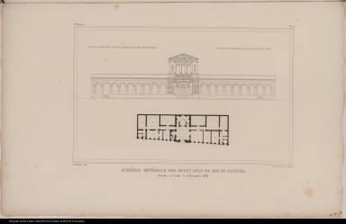 Académie Impériale des Beaux Arts-de Rio de Janeiro. Ouverte à l'étude le 15 Novembre 1826.
