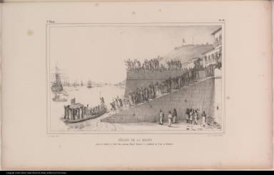 Départ de la Reine pour se rendre à bord du vaisseau Royal destiné à conduire sa cour à Lisbonne.
