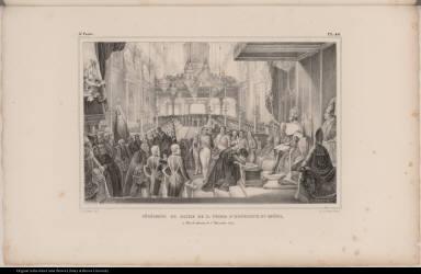 Cérémonie de Sacre de D. Pedro 1er. Empereur du Brésil, à Rio de Janeiro, le 1er. Decembre 1822.