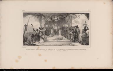 Rideau d'Avant Scène Exécuté au Théatre de la Cour, Pour la Réprésentation d'Apparat, à l'occasion du Couronnement de l'Empereur D. Pedro 1er..