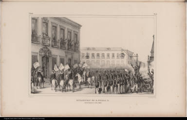 Acclamation de D. Pedro II. à Rio de Janeiro le 7 Avril, 1831.