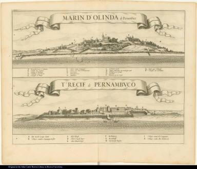 [top] Marin d'Olinda de Pernambuco. [bottom] t'Recif de Pernambuco.