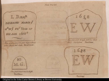 [Grave markers of John Dixwell, William Goff, and Edward Whalley]