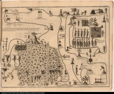 [Map of the wanderings of the ancient Mexicans]