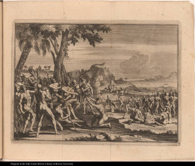 [European pleads before native Americans]