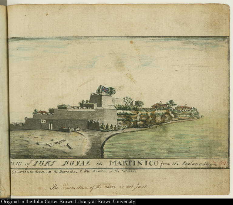 View of Fort Royal in Martinico from the Esplanade 1762