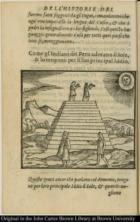 Come gl'Indiani del Peru adorano il Sole, & lo tengono per il suo principal Iddio.