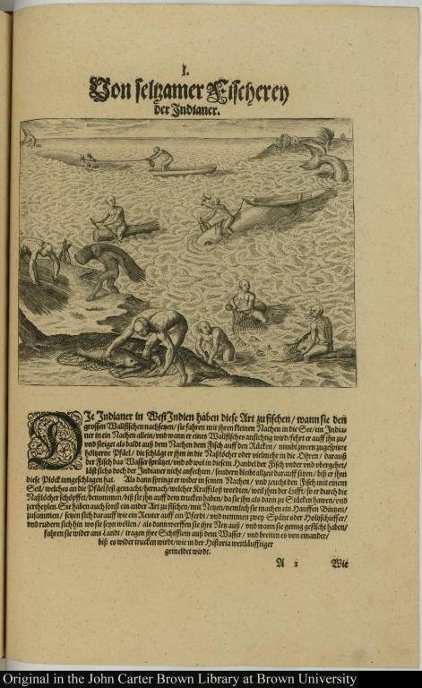 Von seltzamer Fischeren der Indianer.
