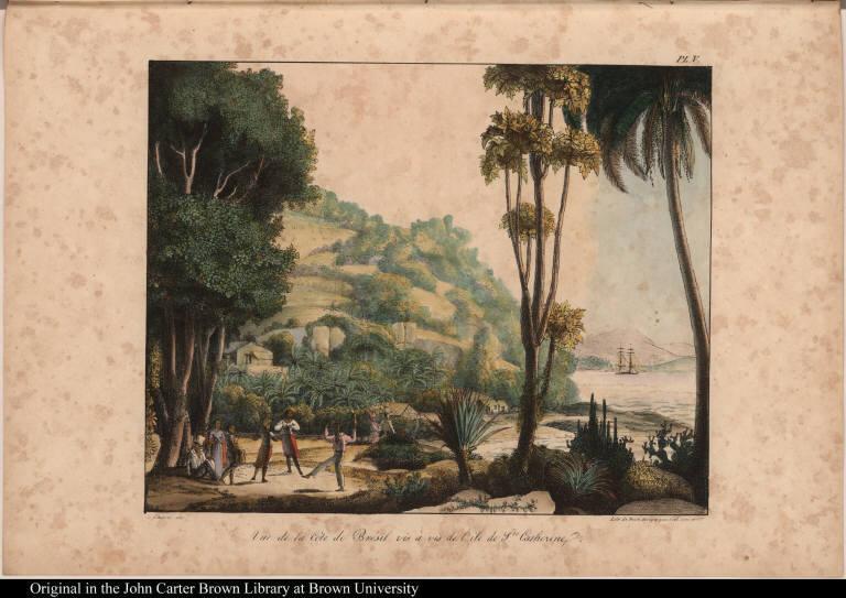 Vue de la Còte de Brésil, vis à vis de l'île de Ste. Catherine.