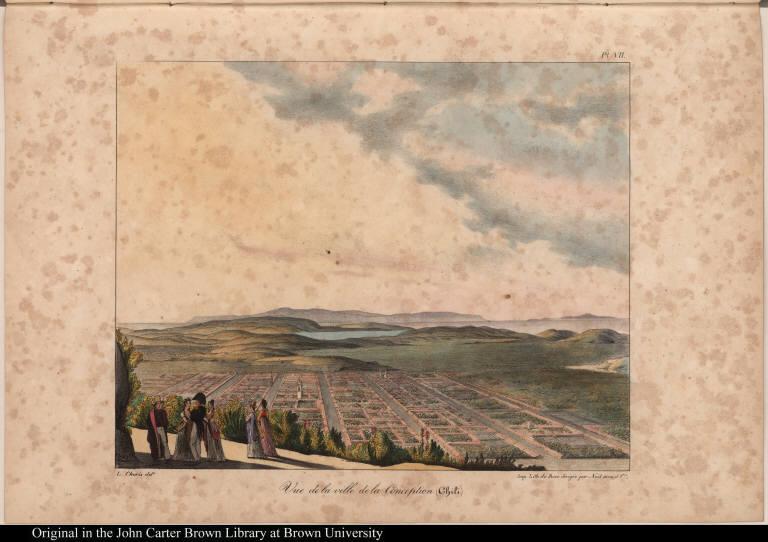 Vue de la ville de la Conception (Chili)