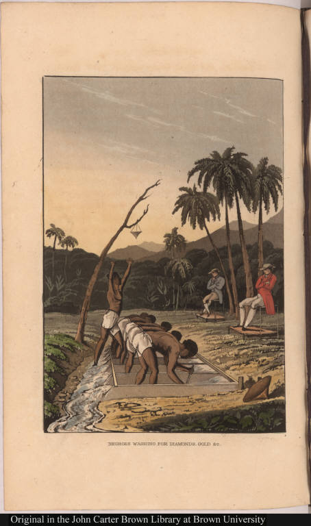 Negroes washing for diamonds, gold, &c.