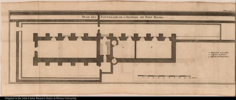 Plan des Souterains de l'Arcenal du Fort Royal