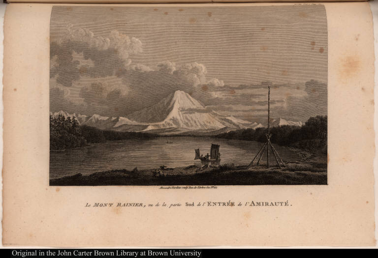 Le Mont Rainier, vu de la partie Sud de l'Entrée de l'Amirauté.