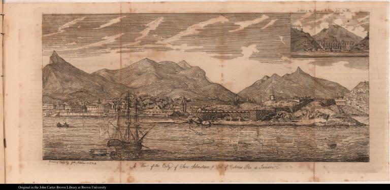 A View of the City of San Sebastian & Isld. of Cobrus Rio de Janiero.
