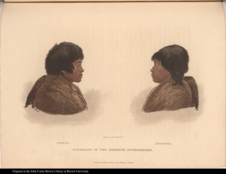 Junius. Augustus. Portraits of Two Eskimaux Interpreters.