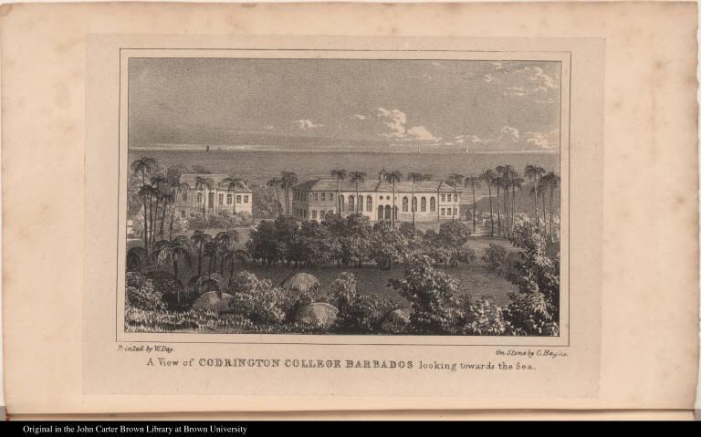 A View of Codrington College Barbados looking towards the Sea.