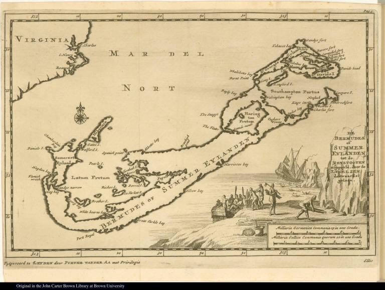 De Bermudes of Summer Eylanden tot de Reystogten afgepeyld, door de Engelzen derwaards gedaan.