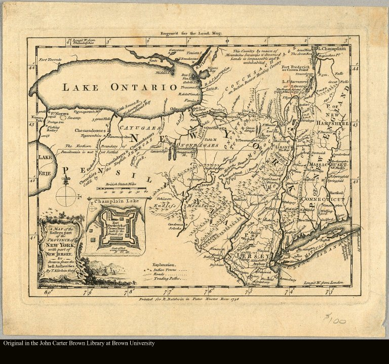 A map of the eastern part of the Province of New York with part of New Jersey &c. drawn from the best authorities by T. Kitchin geogr