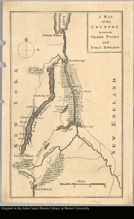 A map of the country between Crown Point and Fort Edward