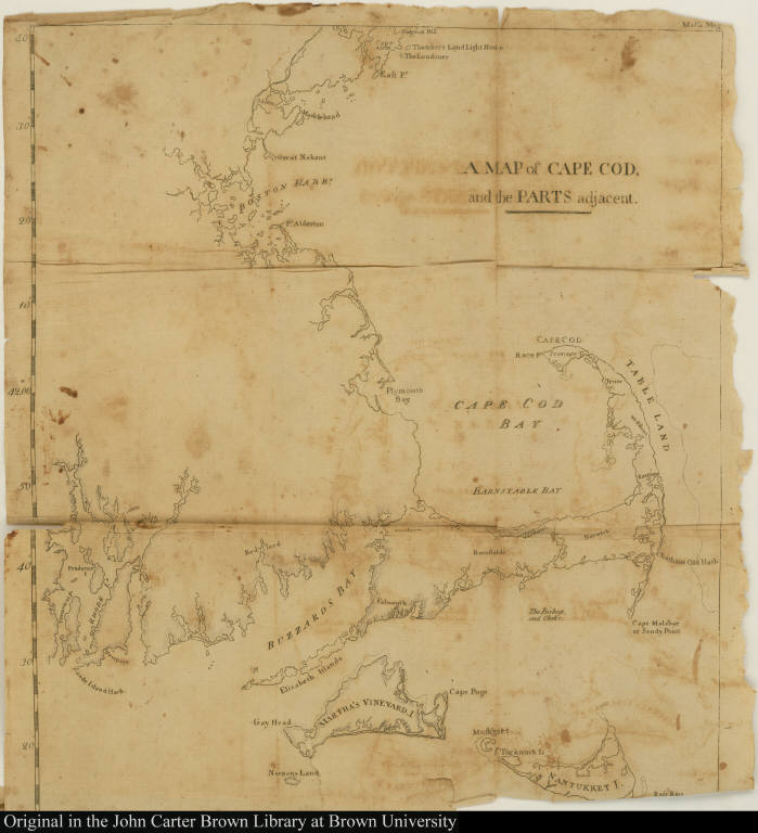 A Map of Cape Cod, and the parts adjacent.