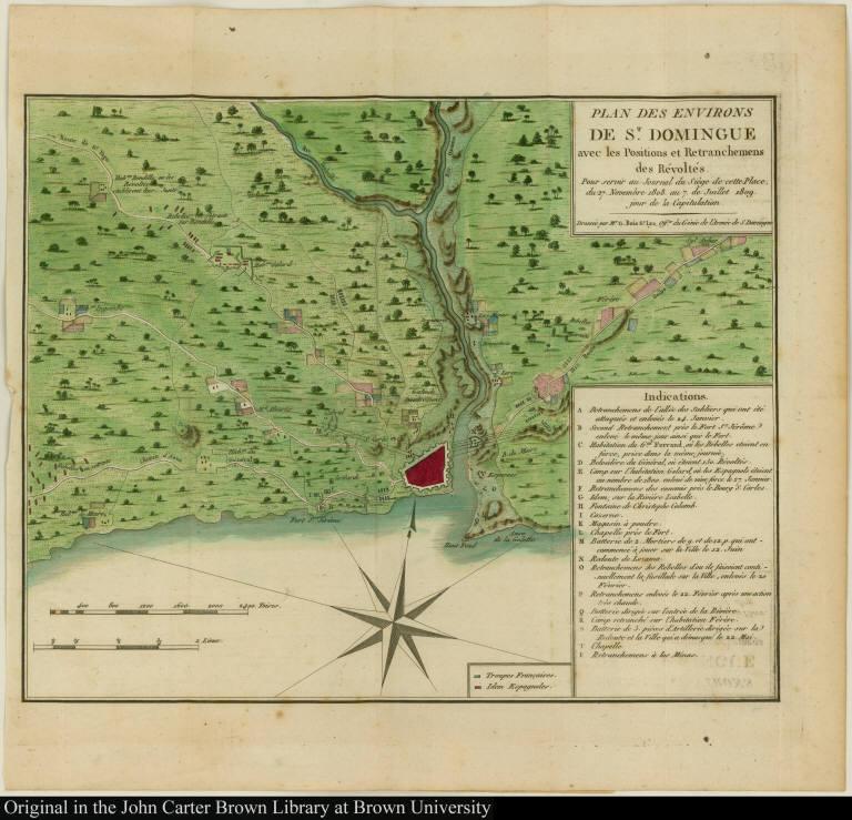 Plan des Environs de St. Domingue avec les Positions et Retranchemens des Révoltés.