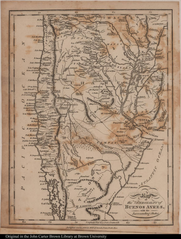Map of the Viceroyalty of Buenos Ayres, with the Surrounding States.