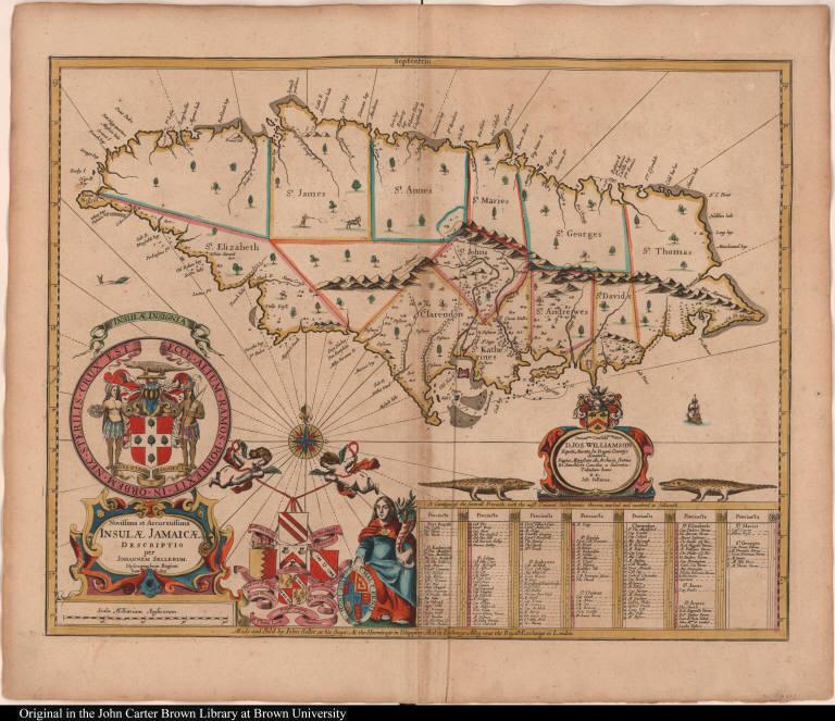 Novissima et Accuratissima Insulae Jamaicae Descriptio per Johannem Sellerum.