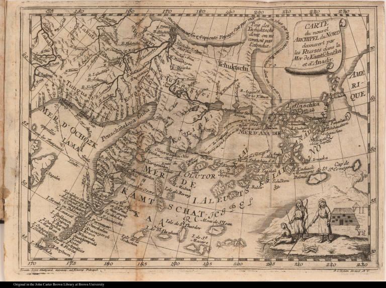 Carte du nouvel Archipel du Nord decouvert par les Russes dans la Mer de Kamtschatka et d'Anadir.