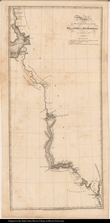 Route of the Expedition from Isle à la Crosse to Fort Providence, in 1819 & 20.
