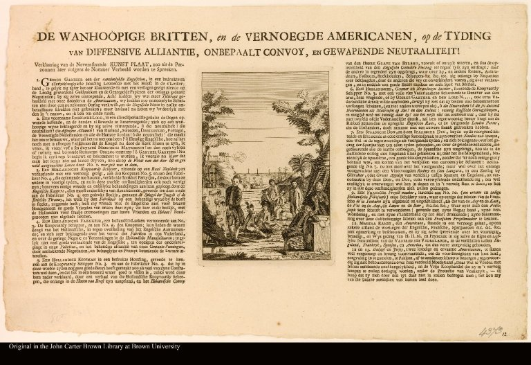 DE WANHOOPIGE BRITTEN, en de VERNOEGDE AMERICANEN [The despairing Briton, and the contented American]